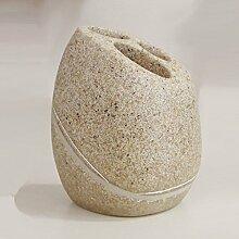 Sand Beiger Zahnbürstenhalter in Sandsteinoptik -