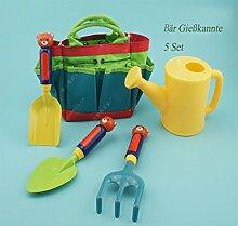 SANDAFI Kinder Gartengerät,Eintragbar Gartenwerkzeug für Kinder mit 2 Schaufel ,eine Harke und Sprühflasche