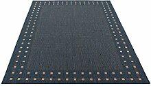 Sandega Flachgewebe Teppich 120 x 170cm blau