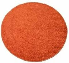 Sandega Teppich Shaggy Palma Kupfer 140 rund