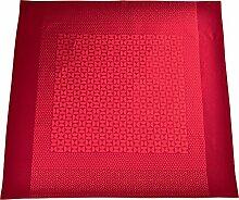 Sander Tischdecke Damast Jacquard rot Größe 135x175 cm