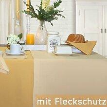 Sander Tischdecke Gala vanille Größe 150x250 cm