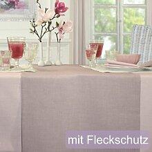 Sander Tischdecke Loft rosenholz Größe 135x220 cm