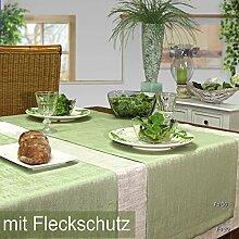 sander Tischdecke ORION 135x220cm mit Fleckschutz in 13 Farben oliv/lind(6)