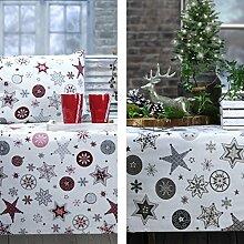 Sander Weihnachtstischdecke MEET THE STARS 150x250cm Farbe ro