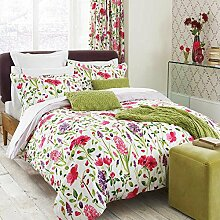 Sanderson Frühling Blumen Bettbezug, Super-Kingsize-Bett, Mehrfarbig