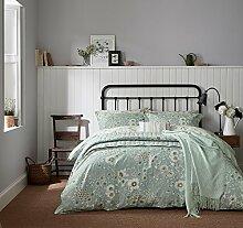 Sanderson Home Maelee Bettbezug, Baumwolle, Doppelbett, hellblau