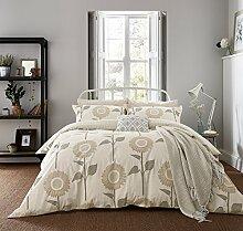 Sanderson Home Sonnenuhr Bettbezug, Baumwolle, Leinen, doppel