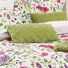 Sanderson Spring Flowers Kissen, Baumwolle, Grün
