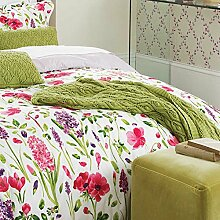 Sanderson Spring Flowers Strick Überwurf, Baumwolle, Grün