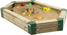 Sandkasten 6-eckig Holzsandkasten ohne Abdeckung,