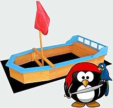 Sandkasten Boot Flaggenmast 150x78x100cm