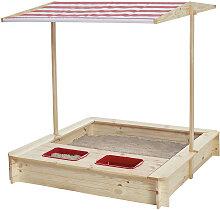 SANDKASTEN , Rot, Weiß , Holz , Kiefer , 118x118