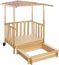 Sandkasten und Spielveranda mit Dach Gretchen -