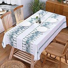 SANDM Pvc-plastik tischdecke Wasserdicht, Tischmatte Rechteckige tischdecke Couchtisch tischtuch Garten Tischdecke für esszimmer-I 137x137cm(54x54inch)