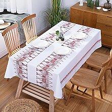 SANDM Pvc-plastik tischdecke Wasserdicht, Tischmatte Rechteckige tischdecke Couchtisch tischtuch Garten Tischdecke für esszimmer-J 100x137cm(39x54inch)
