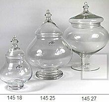 Sandra Rich 360536 Glasdose, Glas, transparent, 20 x 10 x 10 cm