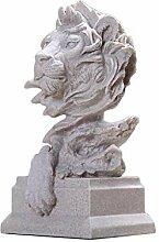 Sandstein Lion Modell Ornamente Skulptur