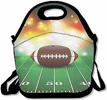 Sandy66Twain American Football Ball mit goldenen
