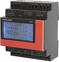 sangamo 26404Washi 4Modul, 4Kanal, 7Tage, DIGITAL DIN Schiene Zeit Schalter, 3680W, 230V, Schwarz & Ro
