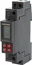 sangamo 71101Astro/Solar 1Modul/1Kanal/7Tage/Digital DIN-Schiene Zeit Schalter, 3680W, 230V, Schwarz/Ro