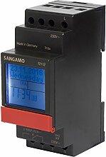 sangamo 721122Modul, 1Kanal, 7Tage, DIGITAL DIN Schiene Zeit Schalter, 3680W, 230V, Schwarz & Ro