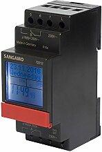 sangamo 722122Modul, 2Kanal, 7Tage, DIGITAL DIN Schiene Zeit Schalter, 3680W, 230V, Schwarz & Ro