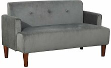 SANGDA Zweisitzer Stoffsofa, graues Couch Sofa mit