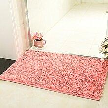 SangreAzul Super Weiche Plüsch-Fußmatte,Innenaußenbereich-Wolldecke Dauerhafter Kleiner Matte-moderner Einfacher Sauberer Teppich-Rosa 45x70cm (18x28inch)