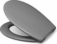 Sanifri WC-Sitz Nera, grau, 1 Stück, 470011130