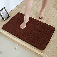 Sanitär Toilette Saugfähige Matten Fußmatte Küche Fußmatte Rutsch-Pad Matten Schlafzimmer, 40 * 120Cm, Braun B