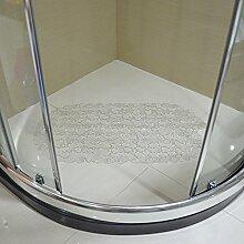 Sanitär Toilette WC Matten,Indoor PVC Farbe Fußmatten,Anti-rutsch-matte,Bad Badematte,Dusche Fußmatte-C 67x35cm(26x14inch)