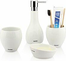 Sanitärkeramik Badezimmer Badezimmer Mundwasser waschen spülen Cup 4-Teiler, Weiß