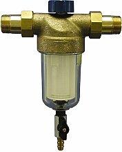 Sanitop-Wingenroth 14326 4 Hauswasserfilter Alfi rückspülbar mit 2 Außengewinden, 1 Zoll