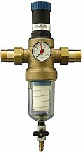 Sanitop-Wingenroth 14328 8 Hauswasserfilter Alfi-Top rückspülbar mit integriertem Druckminderer, 3/4 Zoll