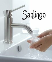 Sanlingo 100% gebürsteter Edelstahl, Mischbatterie