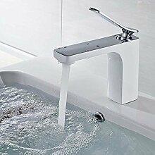 Sanlingo Armatur Waschtischarmatur Einhebel Mischbatterie Wasserhahn Chrom Weiss