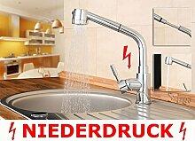 Sanlingo Design Niederdruck Armatur Ausziehbar Schlauch Küche Spüle Gastrobrause Chrom
