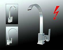 Sanlingo Design Niederdruck Armatur Küche Spüle Einhebel Chrom