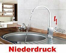 Sanlingo Design Niederdruck Armatur Küche Spüle Einhebel in Chrom