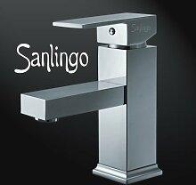 Sanlingo Designer Waschbecken Waschtisch Armatur Badarmatur Serie Manchester