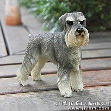 SANMULYH Das Tier Modell Des Fahrzeugs Dekoration Basteln Hund Collectibles, B