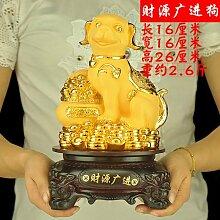 SANMULYH Lucky Dog Home Ausstattung Dekoration Basteln Wohnzimmer Dekoration, L