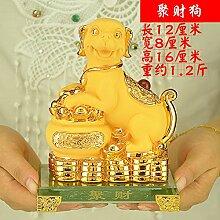 SANMULYH Lucky Dog Home Ausstattung Dekoration Basteln Wohnzimmer Dekoration, D