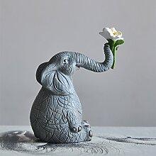 SANMULYH Niedliche Tier Elefant Deko Ideen Der Moderne Tv-Schrank Schrank Möbel Und Garten Dekorationen, F