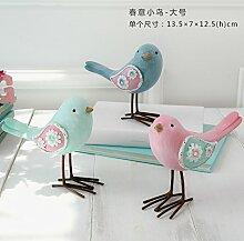 SANMULYH Schönen Frühling Vogel Retro Minimalistischen Dekoration Dekoration Dekoration Dekoration, Eine (3)