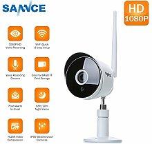 SANNCE 1080P HD IP Kamera Wireless Wifi Sicherheit ONVIF Überwachungskamera Innen Nachtsicht Netzwerk Baby Monitor für Außenbereich IP66