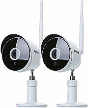 SANNCE 2pcs HD IP Kamera 1080P Wireless Wifi Sicherheit ONVIF Überwachungskamera Innen Nachtsicht Netzwerk Baby Monitor für Außenbereich IP66