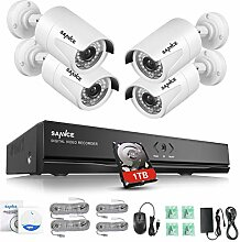 SANNCE Überwachungskamera Set 1080P Full HD 8