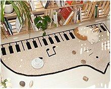 """sannix Mikrofaser weich Schlafzimmer und Bad Piano Accent Teppich Pad Home Dekoration Boden Fun Creative Teppich und Teppiche, 20von 79cm, Cat-Left, 27.5""""*55.1"""